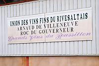 Union des vins Vins du Rivesaltes cooperative. Arnaud de Villeneuve, Roc du Gouverneur. Rivesaltes town, Roussillon, France