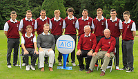 The Ballybunion team during for the AIG Cups &amp; Shields Finals in Royal Tara Golf Club on Wednesday 18th September 2013.<br /> Picture:  Thos Caffrey / www.golffile.ie