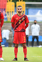 Belgian Yunus Bahadir pictured during a friendly soccer game between the national teams Under19 Youth teams of Belgium and Germany on tuesday 8 th of September 2020  in Genk , Belgium . PHOTO SPORTPIX.BE | SPP | DAVID CATRY