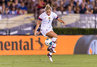 PASADENA, CA - AUGUST 4: Abby Dahlkemper #7 takes a touch during a game between Ireland and USWNT at Rose Bowl on August 3, 2019 in Pasadena, California.