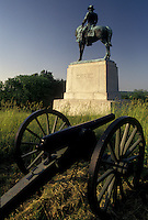 AJ4062, Gettysburg, civil war, battlefield, Gettysburg National Military Park, Pennsylvania, Monument at East Cemetery Hill in Gettysburg Nat'l Military Park in Gettysburg in the state of Pennsylvania.