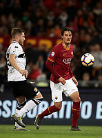Football, Serie A: AS Roma - Parma, Olympic stadium, Rome, May 26, 2019. <br /> Roma' Patrik Schick (r) in action with Parma's Riccardo Gagliolo (l) during the Italian Serie A football match between Roma and Parma at Olympic stadium in Rome, on May 26, 2019.<br /> UPDATE IMAGES PRESS/Isabella Bonotto