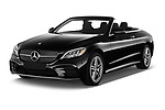 2020 Mercedes Benz C-Class C300- 2 Door Convertible Angular Front stock photos of front three quarter view
