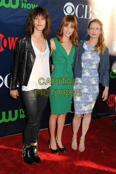 17 July 2014 - West Hollywood, California - Kate Moennig, Ambyr Childers, Paula Malcomson. CBS, CW, Showtime Summer Press Tour 2014 held at The Pacific Design Center. <br /> CAP/ADM/BP<br /> &copy;Byron Purvis/AdMedia/Capital Pictures