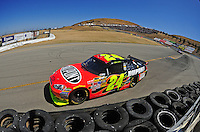 Jun. 21, 2009; Sonoma, CA, USA; NASCAR Sprint Cup Series driver Jeff Gordon during the SaveMart 350 at Infineon Raceway. Mandatory Credit: Mark J. Rebilas-