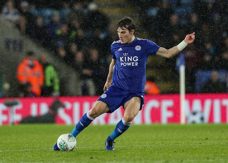 Leicester City's Caglar Soyunc<br /> <br /> Photographer Andrew Kearns/CameraSport<br /> <br /> English League Cup - Carabao Cup Quarter Final - Leicester City v Manchester City - Tuesday 18th December 2018 - King Power Stadium - Leicester<br />  <br /> World Copyright © 2018 CameraSport. All rights reserved. 43 Linden Ave. Countesthorpe. Leicester. England. LE8 5PG - Tel: +44 (0) 116 277 4147 - admin@camerasport.com - www.camerasport.com