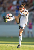 Boyds, MD. - Saturday, June 24 2017:  Emily Menges during a regular season National Women's Soccer League (NWSL) match between the Washington Spirit and the Portland Thorns FC at Maureen Hendricks Field, Maryland SoccerPlex.<br />  The Washington Spirit defeated the Portland Thorns FC 1-0.