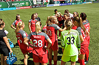 Portland, OR - Saturday September 02, 2017: Portland Thorns FC  before a regular season National Women's Soccer League (NWSL) match between the Portland Thorns FC and the Washington Spirit at Providence Park.