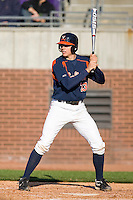 Danny Hultzen #23 of the Virginia Cavaliers at bat versus the East Carolina Pirates at Clark-LeClair Stadium on February 19, 2010 in Greenville, North Carolina.   Photo by Brian Westerholt / Four Seam Images