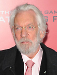 Donald Sutherland arriving to 'The Hunger Game Catching Fire Premiere', Los Angeles, Ca. November 18, 2013.
