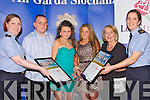 AWARDED: Terresa ONeill and Chloe Quilligian (M4 Project) who were well rewarded with Merit awardes at the Lee Strand Garda Youth Achievment Awards in the Brandon Hotel Tralee on Friday night, with their Community Gardas and mentors, L-r: Cathy Murphy (Garda Community), John Moriarty, Teresa ONeill, Chloe Quilligan, Geraldine OMeara and Trish Fitzpatrick (Community Garda)...