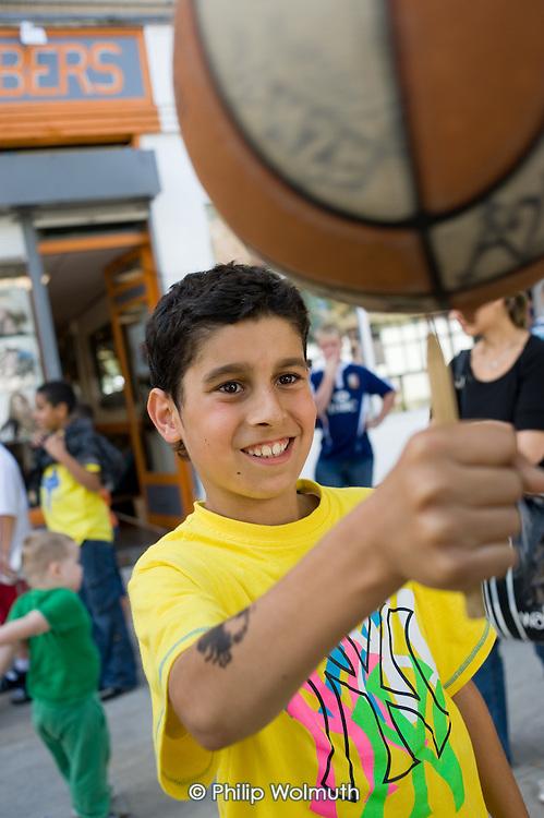 Urban Elite Basketball project at Church Street Summer Festival 2009, organised by Church Street Neighbourhood Forum.