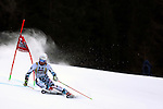 competes during the FIS Alpine Ski World Cup Men's Giant Slalom in Alta Badia, on December 18, 2016.