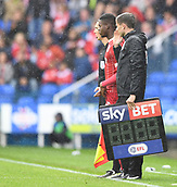 9th September 2017, Madejski Stadium, Reading, England; EFL Championship football, Reading versus Bristol City; Jonathan Leko of Bristol City waits to take to the field for Bristol City for the first time