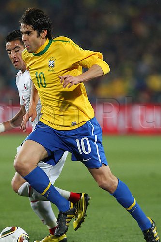 JUNE 28, 2010 - Football : 2010 FIFA World Cup South Africa Round of 16 between Brazil 3-0 Chile at Ellis Park Stadium, Johannesburg, South Africa. Kaka (BRA) takes the ball up field.