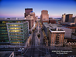 Photo of Dayton Ohio skyline, Main Street view.
