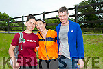 At the Tralee Ultra 100k marathon on Sunday were l-r  Caroline McLoughlin, Donna McLoughlin and Robert Caffrey