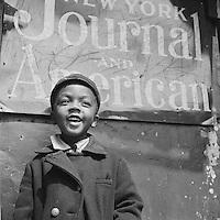 Harlem - New York (NY), USA , May-June 1943 -<br /> Harlem newsboy