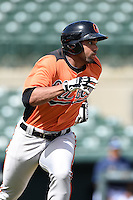 Baltimore Orioles outfielder Jamill Moquete (36) during an Instructional League game against the Tampa Bay Rays on September 15, 2014 at Ed Smith Stadium in Sarasota, Florida.  (Mike Janes/Four Seam Images)