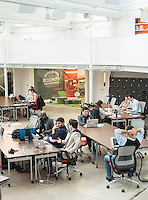 Galvanize in Denver, Colorado, Monday, March 4, 2013. According to their website: Galvanize creates an ?innovation ecosystem? designed to give entrepreneurs and innovators the best chance of success at the start of their next (or first) big thing. Through the three pillars of Capital, Community, and Curriculum, Galvanize builds a community greater than the sum of its parts to spark disruptive ideas and breakout companies.