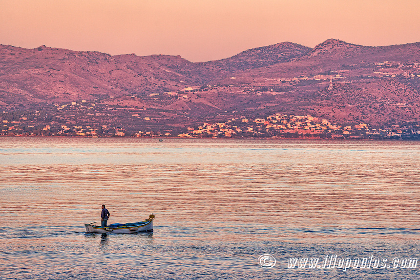A fishing boat in Agistri island, Greece