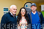 L-R Ollie Switzer, Tralee, Áine McCarthy, Cloghane and Eddie O'Mahony, Fenit, at the launch of the history book on fishing in the Brandon Area as well as video documentary last Friday night at the Halla Le Cheile, Brandon.