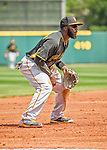 22 March 2015: Pittsburgh Pirates infielder Josh Harrison in Spring Training action against the Houston Astros at Osceola County Stadium in Kissimmee, Florida. The Astros defeated the Pirates 14-2 in Grapefruit League play. Mandatory Credit: Ed Wolfstein Photo *** RAW (NEF) Image File Available ***