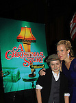 "Joe West, son of Maura West - As The World Turns' ""Carly"" and Young and Restless, makes his Broadway Debut as ""Ralphy"" in A Christmas Story The Musical and poses with his mom Maura on opening night after party at Lucky Strike on November 19, 2012 at the Lunt-Fontaine Theatre, New York City, New York where the musical is. (Photo by Sue Coflin/Max Photos)"