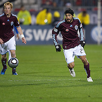 21 November 2010: Colorado Rapids defender/midfielder Pablo Mastroeni #25 in action during the 2010 MLS CUP between the Colorado Rapids and FC Dallas at BMO Field in Toronto, Ontario Canada..The Colorado Rapids won 2-1 in extra time....