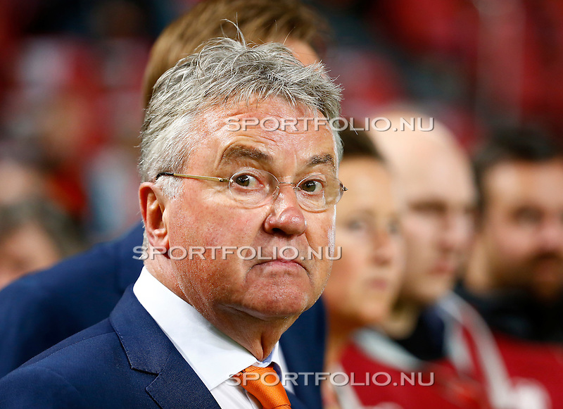Nederland, Amsterdam, 10 oktober 2014<br /> Seizoen 2014-2015<br /> EK Kwalificatiewedstrijd <br /> Nederland-Kazachstan <br /> Guus Hiddink, trainer-coach van het Nederlands Elftal.