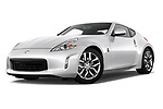 Low aggressive front three quarter view of a <br /> 2013 Nissan 370Z Coupe