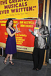 Opening Night -  Ron Raines' wife Dona and daughter Charlotte pose with the Follies poster, a James Goldman & Stephen Sondheim's classic musical on September 12, 2011 at the Marquis Theatre, New York City, New York. (Photo by Sue Coflin/Max Photos