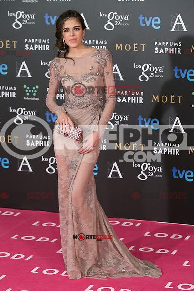 Sandra Martin attend the 2015 Goya Awards at Auditorium Hotel, Madrid,  Spain. February 07, 2015.(ALTERPHOTOS/)Carlos Dafonte) /NORTEphoto.com