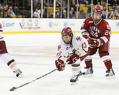 Cam Atkinson (BC - 13), Luke Greiner (Harvard - 24) - The Boston College Eagles defeated the Harvard University Crimson 6-0 on Monday, February 1, 2010, in the first round of the 2010 Beanpot at the TD Garden in Boston, Massachusetts.