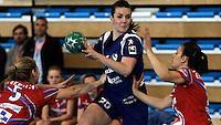 12/04/2012 ALTEA (ALICANTE).- Copa de S. M. La Reina de Balonmano femenino. Partido entre el Bera Bera y el Elche Mustang / FOTO: CARLOS RODRIGUEZ