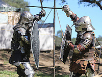 Oct. 31, 2015. Escondido,  CA. USA|Knights fight at the 16th Annual Escondido Renaissance Faire and Pirates in the Park held at Felicita Park Saturday .| Photos by Jamie Scott Lytle. Copyright.