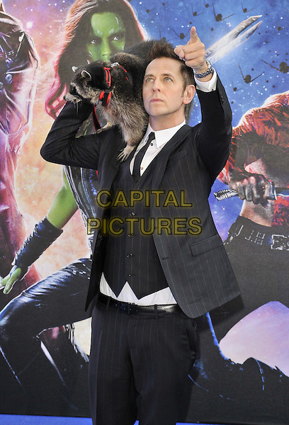 LONDON, ENGLAND - JULY 24: James Gunn attends the 'Guardians Of The Galaxy' UK film premiere, The Empire cinema, Leicester Square, on Thursday July 24, 2014 in London, England, UK. <br /> CAP/CAN<br /> &copy;Can Nguyen/Capital Pictures