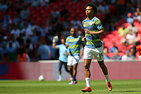 Leroy Sane of Manchester City warms up pre-match during Chelsea vs Manchester City, FA Community Shield Football at Wembley Stadium on 5th August 2018