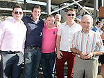 Gary, Lee, Steven and Paddy Monaghan and Dara McCormack at Bellewstown races. Photo:Colin Bell/pressphotos.ie
