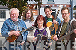 Ray Barron, Liam Barron, Geraldine Barron, Tomas Dunne and James OSullivan, members of Two Time Polka Band who entertained the crowds at the Caherciveen Music Festival on Sunday..