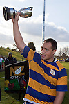 Siosuia Pole salutes the crowd with the McNamara Cup. Counties Manukau Premier Club Rugby final between Patumahoe & Waiuku played at Bayers Growers Stadium Pukekohe on Saturday August 8th 2009. Patumahoe won 11 - 9 after leading 11 - 6 at halftime.