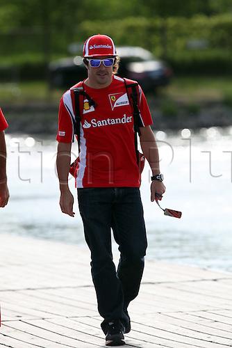 10.06.2011 Montreal, Canada. Fernando Alonso (ESP), Scuderia Ferrari. Formula 1 World Championship Round 07 at Canadian Grand Prix 2011 at Circuit Gilles Villeneuve