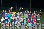 ACCADMY: The under 9,10,11,12,13 and 14 who showed uop atb the IT Dry field to take part in the Tralee Hurling Academy.....