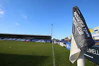 General View of of the Moss Rose Stadium and a corner flag during Macclesfield Town vs Kingstonian, Emirates FA Cup Football at the Moss Rose Stadium on 10th November 2019