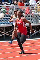 Kirkwood junior Hava Turner won the 100-12.25 and 200-25.43 meter dashes at the 2016 MSHSAA Class 5 District 2 Track and Field Meet at Ladue High School, St. Louis, Saturday, May 14.