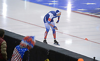 SPEEDSKATING: 15-02-2020, Utah Olympic Oval, ISU World Single Distances Speed Skating Championship, 1000m Men, Pavel Kulizhnikov (RUS), World Record, 1:05.697, ©photo Martin de Jong