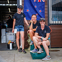 Team NZ Eventing Stable: SUPERGROOMS:  Holly Fitzgerald, Lucy Miles, Tess Anderson. 2018 FEI World Equestrian Games Tryon. Monday 10 September. Copyright Photo: Libby Law Photography