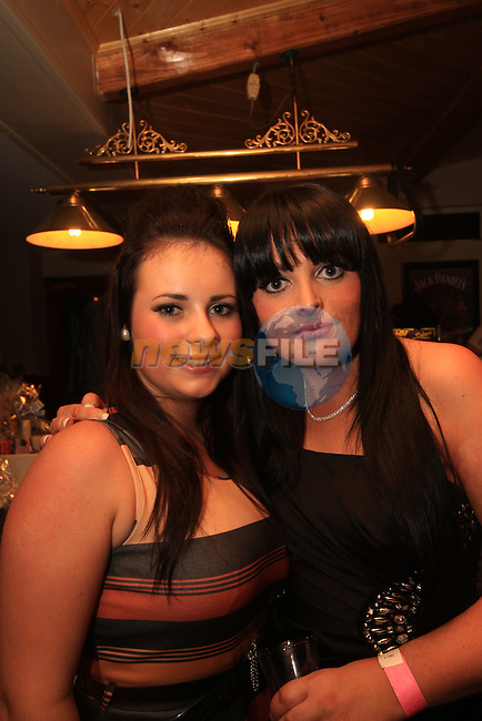 On the night; Shannon Graham and Ciara Morgan..Picture: Shane Maguire / www.newsfile.ie