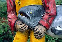 Closeup of Kodiak Alaska Welcome sign, Kodiak, Alaska