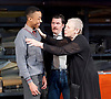 Filthy Business<br /> by Ryan Craig <br /> directed by Edward Hall <br /> at Hampstead Theatre, London, Great Britain <br /> Press Photocall <br /> 15th March 2017 <br /> <br /> Keenan Munn-Francis as Titus <br /> Dorian Lough as Leo <br /> Sara Kestelman as Yetta <br /> <br /> <br /> Photograph by Elliott Franks <br /> Image licensed to Elliott Franks Photography Services